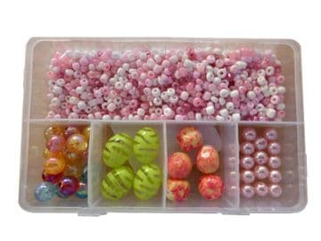 CRAFT + HOBBY BEAD SETS (G) for JEWELLERY making NECKLACES + BRACELETS DIY KITS